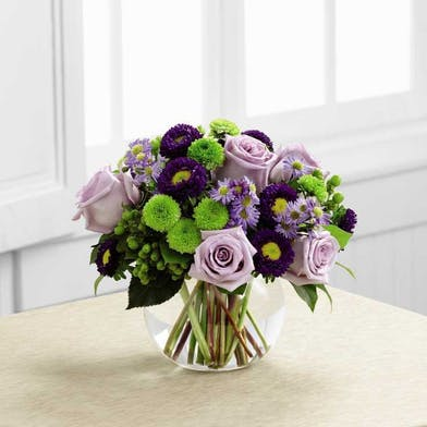 Set with roses and asters, create the perfect bouquet for any of life's special moments.