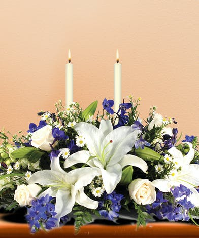 Hanukkah Lights Centerpiece - Mission Viejo Florist